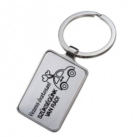 Gravírozott kulcstartó - Vezess óvatosan