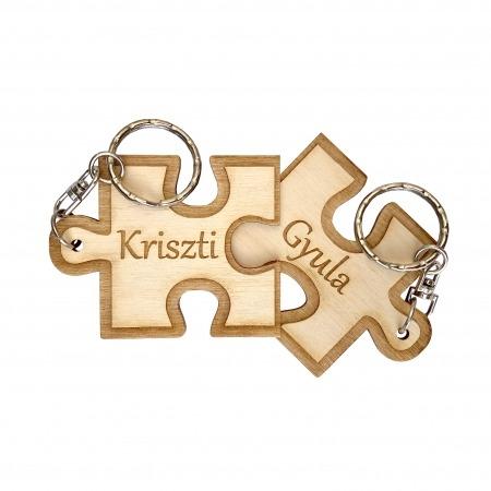 Gravírozott kulcstartó - Összeillő puzzle darabok