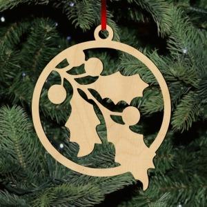 Fa karácsonyfadísz - fagyöngy