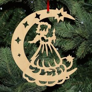 Fa karácsonyfadísz – Holdangyal