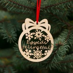 Fa karácsonyfadísz – Egyedi szöveg