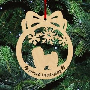Fa karácsonyfadísz – Bichon havanese