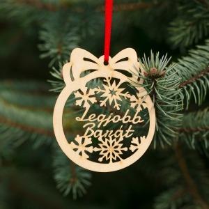 Fa karácsonyfadísz – Legjobb barát