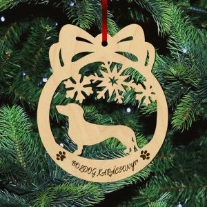Fa karácsonyfadísz – Tacskó