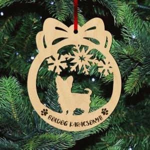 Fa karácsonyfadísz – Yorkie
