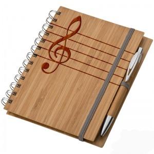 Bambusz füzet A5 + toll + vonalzó - Hangjegy