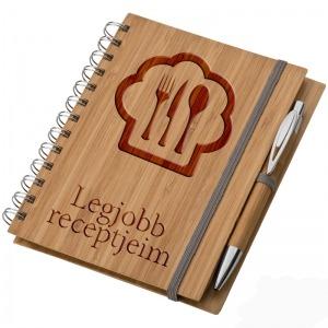 Bambusz füzet A5 + toll + vonalzó - Legjobb receptjeim