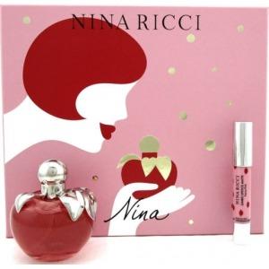 Nina Ricci (Les belles de Nina) Nina EDT 50ml + 2.5g Szájfény Szett Hölgyeknek