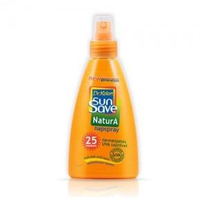 SunSave F25 NaturA napspray /a zöld napozó*/